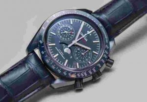 Omega Speedmaster Chronometer Chronograph Moonphase Blue Side Of The Moon Replica Watch