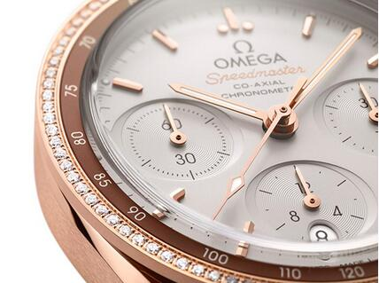 Description of New Replica Omega Speedmaster 38 Gold Diamonds Ladies' Watches