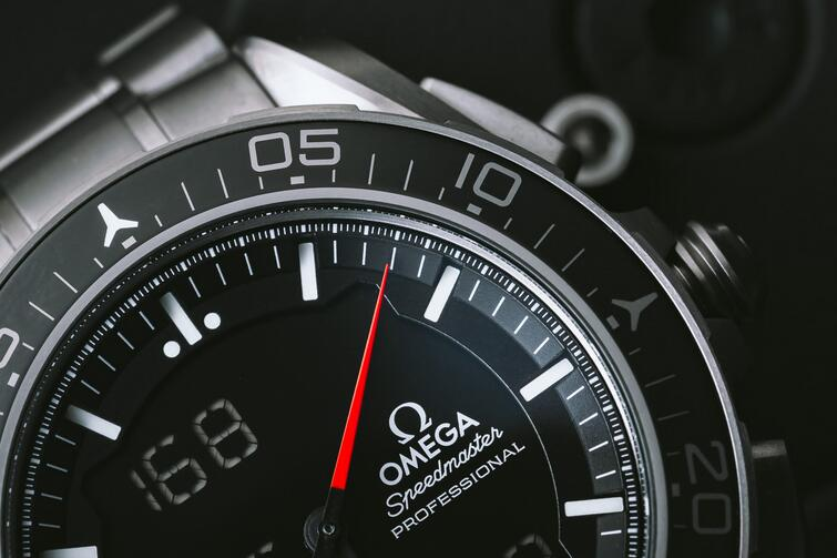 The Astronaut in Space With His Omega Speedmaster Skywalker X-33 Replica Watch On Wrist