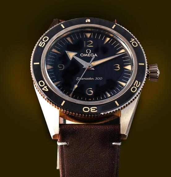 Introducing The Replica Omega Seamaster 300 18K Bronze Gold 41mm Watches 3